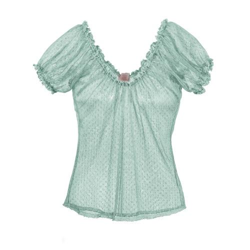 Idee regalo per la #FestaDellaMamma Blusa in tulle plumetis Ti per Te by Kristina Ti #OVS