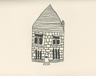 Doodle of a Dog House