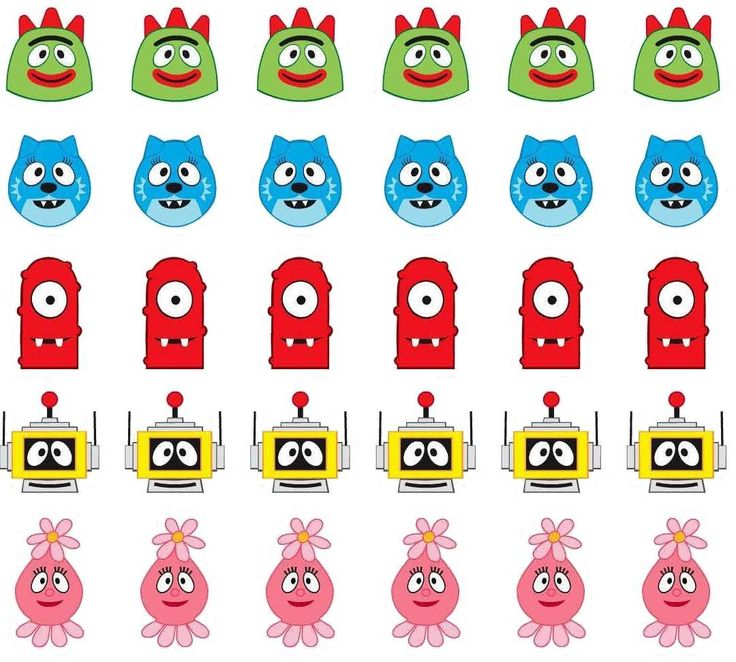 Yo Gabba Gabba images!! Can be used for a number of things!!!
