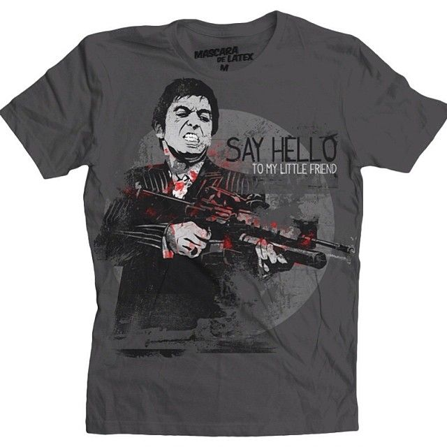 Say Hello To My Little Friend | MascaraDeLatex.ES #Camiseta #MdL
