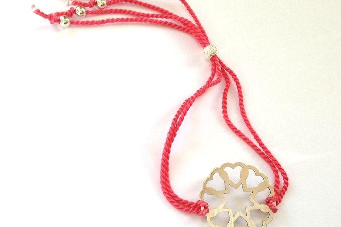 Pink Heart Silk Bracelet by emma anne on hellopretty.co.za
