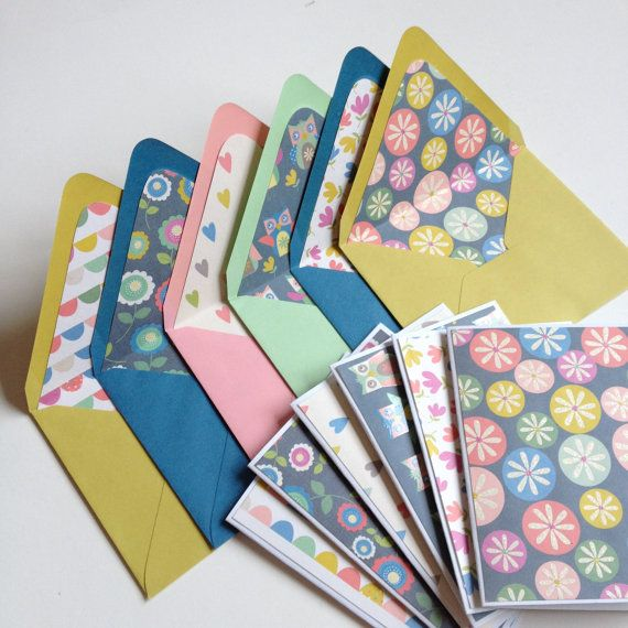 Set of 6 // Blank Note Card Set // Blank Note by PartyHappier
