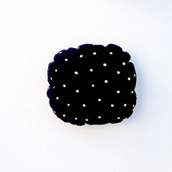 Black and White Cushion Cover. Monochrome Cushion.