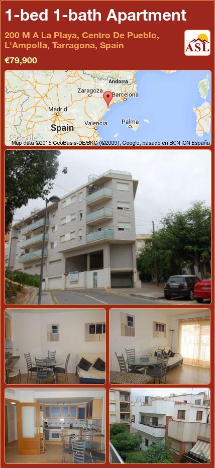 1-bed 1-bath Apartment in 200 M A La Playa, Centro De Pueblo, L'Ampolla, Tarragona, Spain ►€79,900 #PropertyForSaleInSpain
