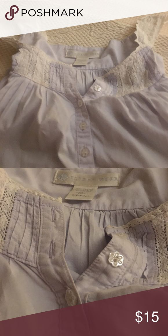 Eileen West long cotton nightgown. Size L. Pretty light blue nightgown with cotton lace trim. Two tiny stains on the back near the hem. Intimates & Sleepwear Chemises & Slips