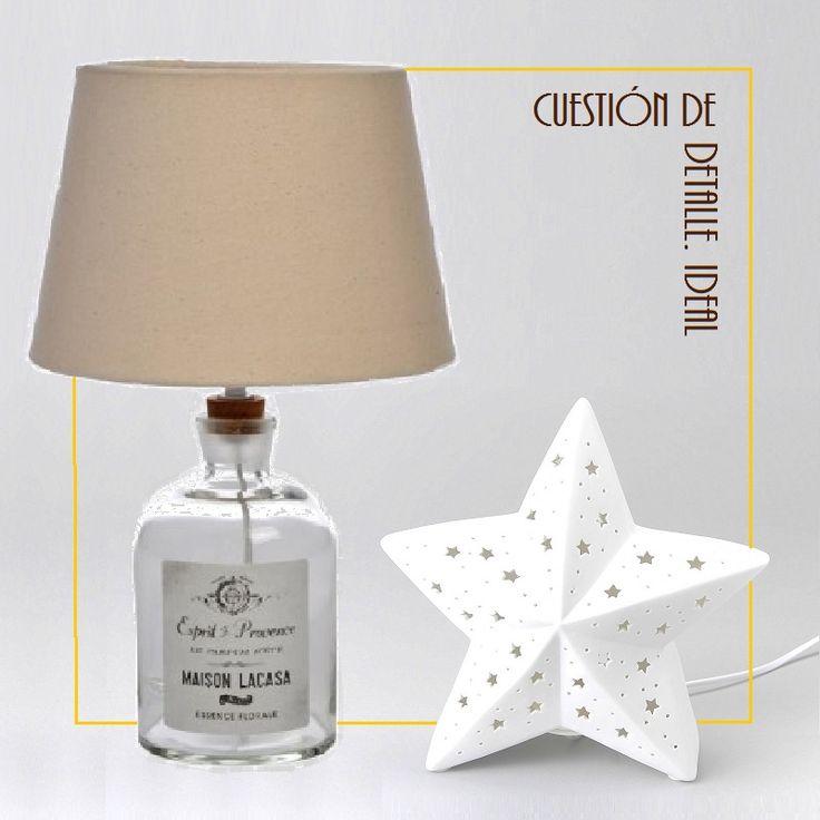 Lámpara botella y lámpara estrella.
