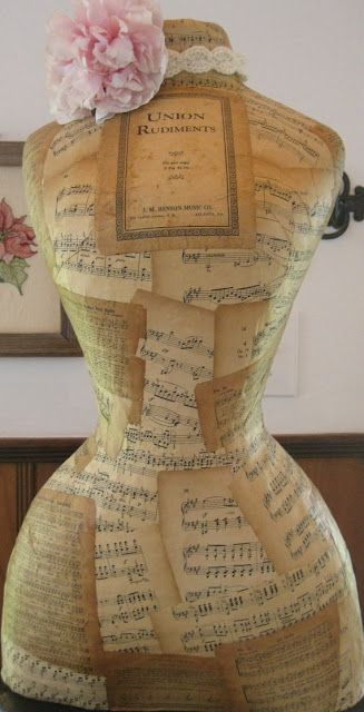 sheet music project Buy new or used dress forms at MannequinMadness.com for your decoupage projects.