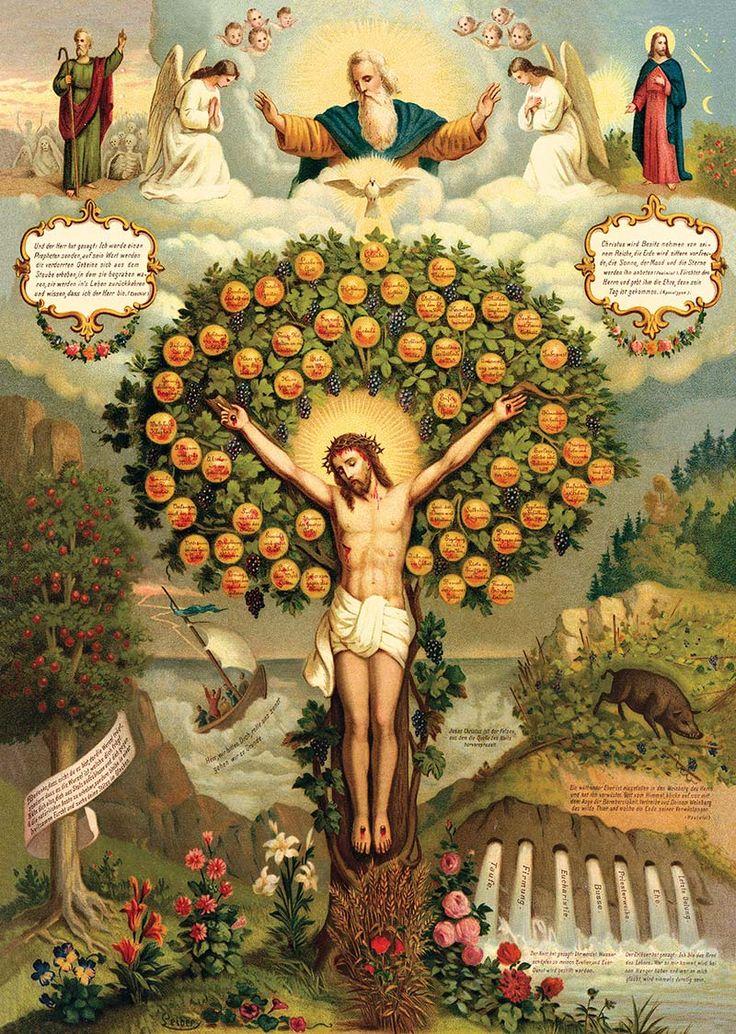 Jesus, a Árvore da Vida no centro do Paraíso.