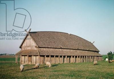 Credit: Reconstruction of an 11th century Viking house (photo) / Trelleborg, Sweden / Giraudon / The Bridgeman Art Library