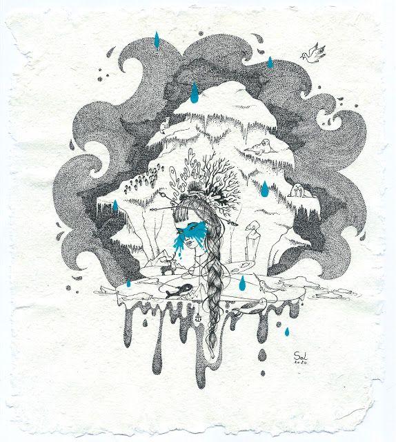 Sel Illustratrice Freelance Asphyxie Banquise En 2020 Banquise Illustration Dessin