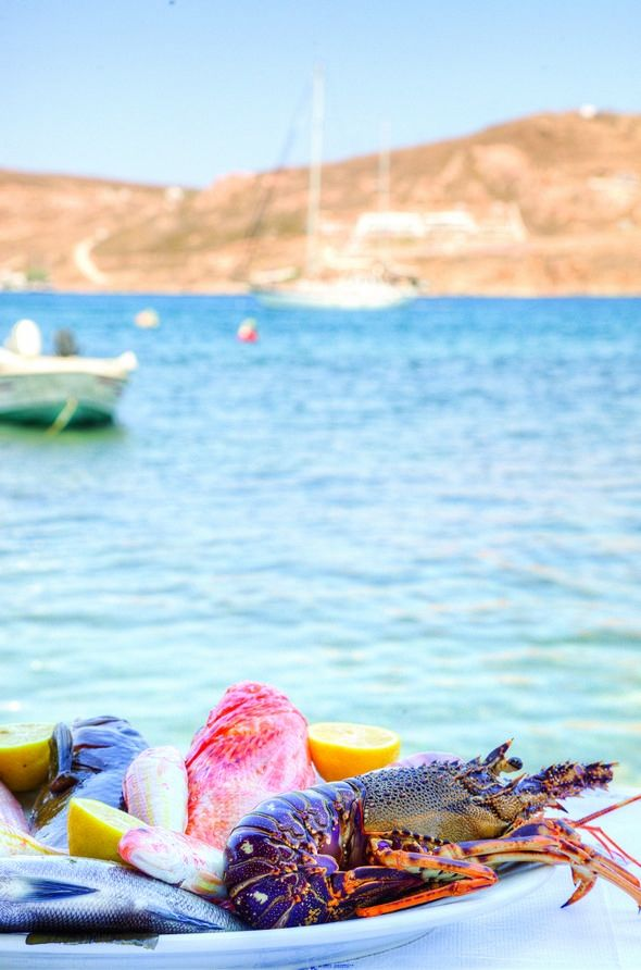 Seafood in Serifos island, Greece. - Selected by www.oiamansion.com
