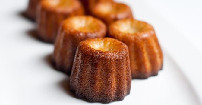 Recette de Mini cannelés allégés pour café gourmand. Facile et rapide à réaliser, goûteuse et diététique. Ingrédients, préparation et recettes associées.