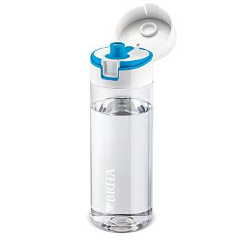BRITA Fill&Go Water Filter Bottle blue 0.6 l + 4 Filter Discs