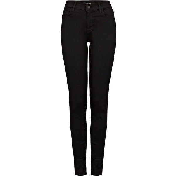 J BRAND Maria Vanity Jean ($275) ❤ liked on Polyvore featuring jeans, pants, bottoms, calças, trousers, vanity, high rise straight leg jeans, j brand jeans, high waisted straight leg jeans and j brand