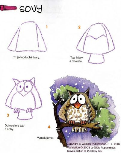 owls   --    How to draw