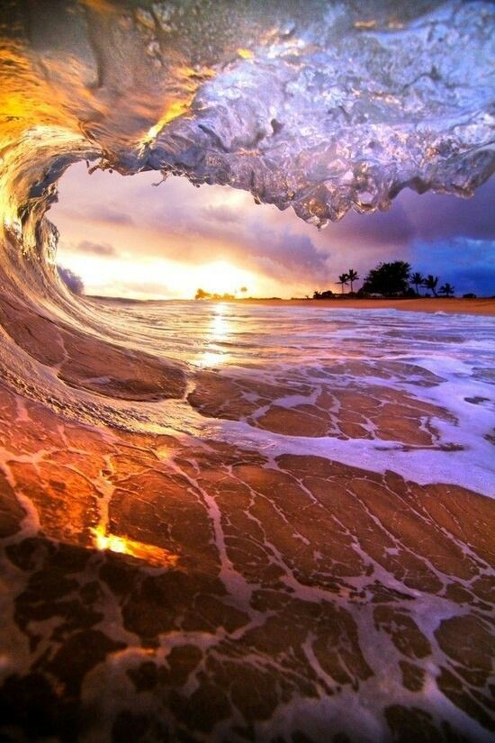 Pretty Awesome Ocean Waves Colorful Pinterest