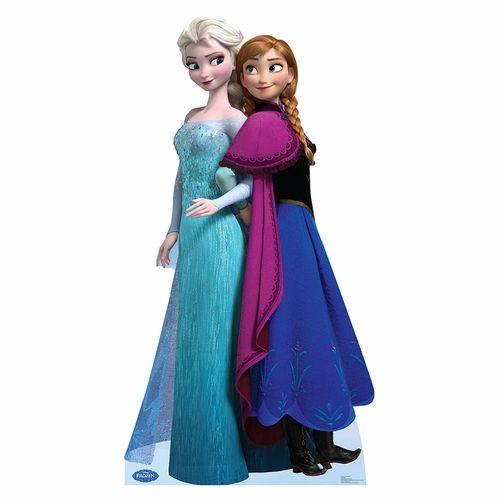 Disney Frozen Elsa And Anna Lifesized Standup