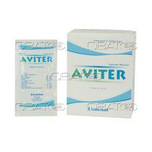 AVITER SACHET 21'S/BOX  Komposisi: Per 6 g sachet menagndungMalic acid 700 mg, glucosamine HCl 800 mg, L-arginine HCl 800 mg, glycine 333 mg, glycyrrhizinic acid 33.3 mg, Zn sulfate 5 mg, Ca pantothenate 3 mg, pyridoxine 0.6 mg, folic acid 133 mcg, cyanocobalamin 0.5 mcg, Cistus incanus 125 mg. Pabrik: interbat