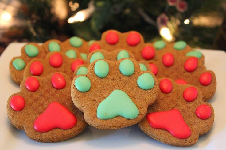 Christmas Dog Treats!  Cute idea for canine gifts.