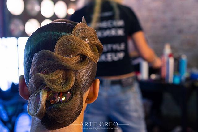Красоты в ленту Hair to my lovely @layza_ko by Natali Ermakova #hairstyle #ballroomdance #ballroom #dance #dancesport