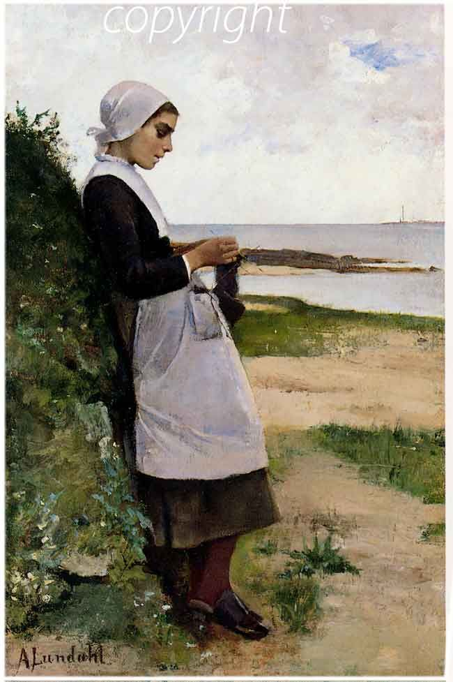 "Amélie Lundhallf (Finlande), ""Jeune Sardiniere à Concarneau"", 1880"