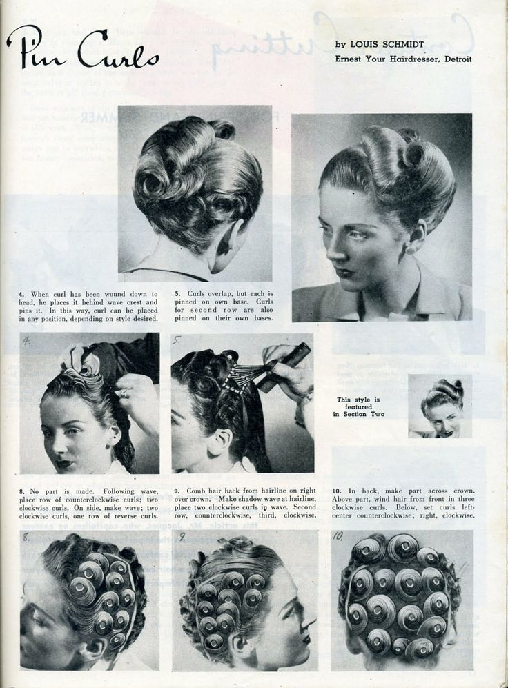 Be Exact in Building Pin Curls
