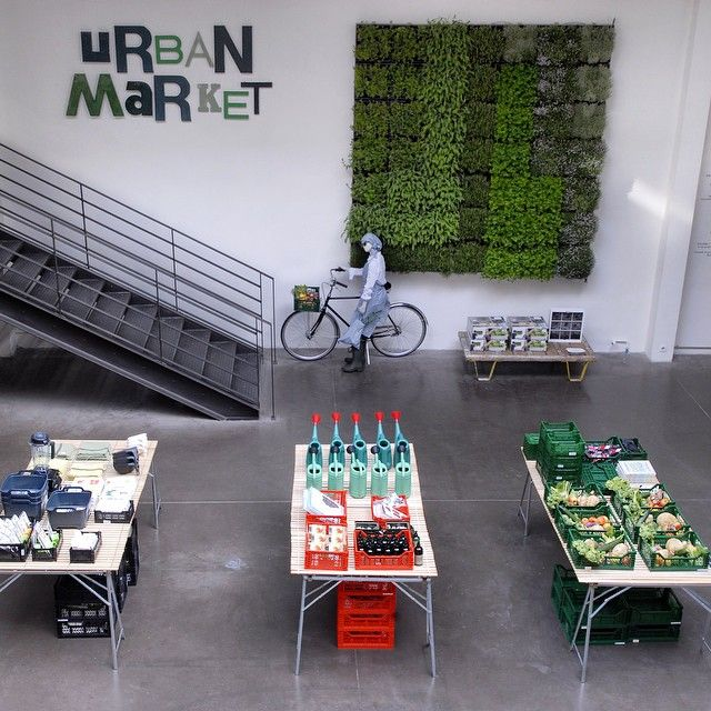 "MERCI,Paris,France, ""Welcome All to The Urban Market"", pinned by Ton van der Veer"