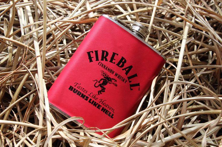 Fireball-Fireball Wall Art- Fireball Flask- Fireball Whiskey-Fireball Whiskey Gifts-Whiskey Gifts by SneakPeekPic on Etsy