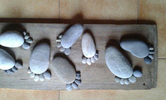 Sea stones footsteps