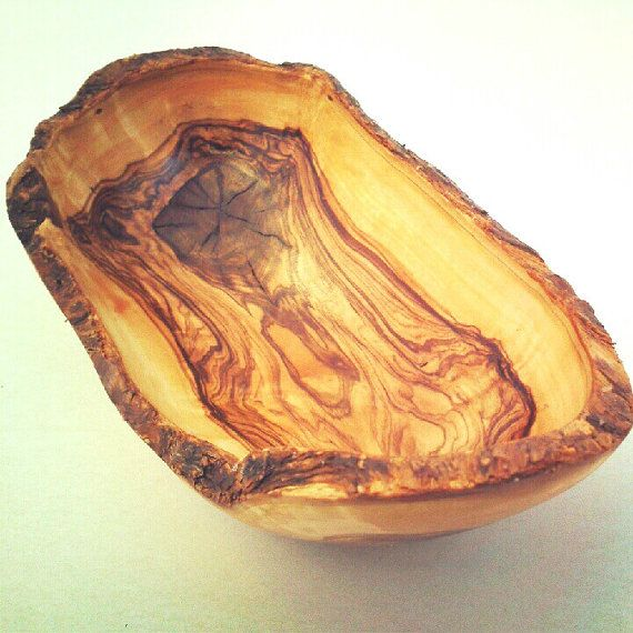 Olive Wood Rustic Bowl  / Wooden Handcrafted by tunisiahandmade, $14.00