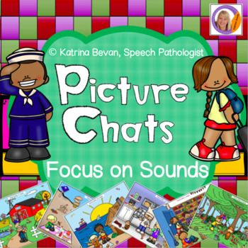 My bestsellers are now available with an ARTICULATION FOCUS! Picture Chats help students observe and discover pictures. By using picture chats, students look at items, characters and events within a picture. And with these editions your can target your