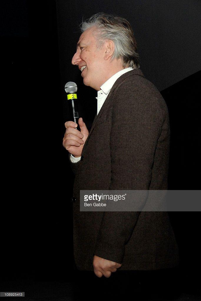 Alan Rickman attends the BAMcinematek screening of 'Die Hard' at BAM Rose Cinemas on February 8, 2011 in New York City.