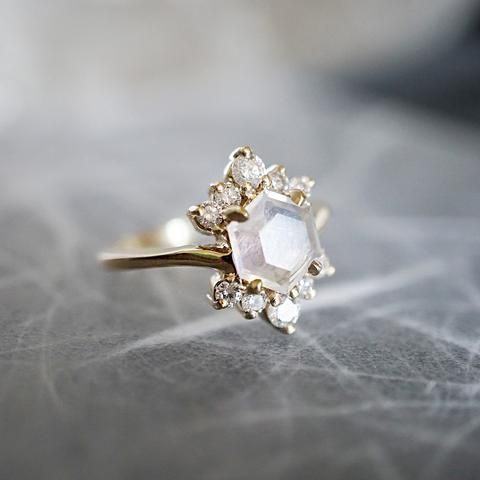 Moonstone Rosie Diamond Ring