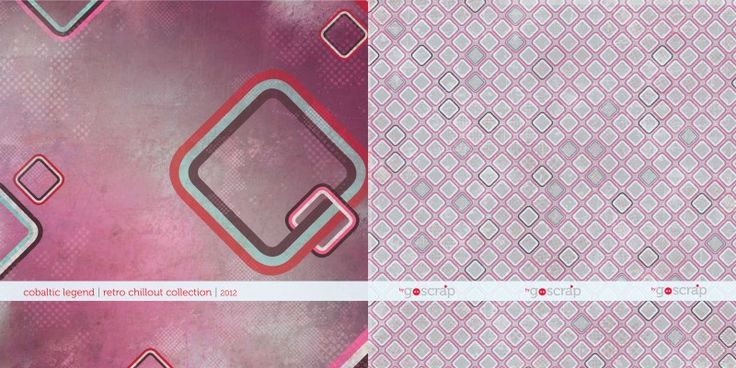 #scrapbooking paper cobaltic legend - retro chillout collection by GOscrap