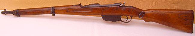 Steyr Mannlicher 8x56R M95/30 short rifle (upgraded and shortened M95), left side.