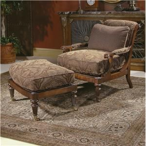 Century Century Chair Cromwell Chair and Ottoman