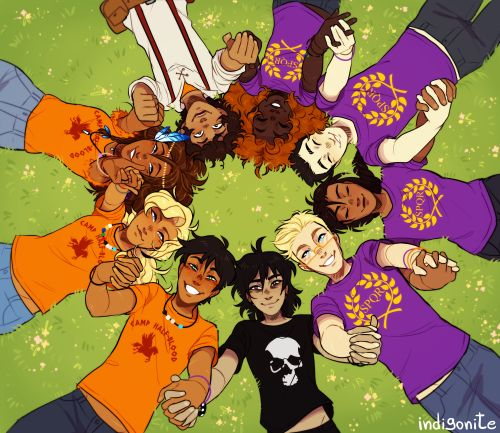 Heroes of Olympus percy jackson heroes of olympus nico di angelo jason grace reyna reyna avila ramirez arellano frank zhang hazel levesque leo valdez piper mclean annabeth chase pjo hoo rick riordan i just wanted to draw everyone together and happy tbh im super proud myart indigoart