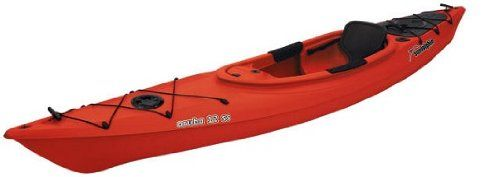 Sun Dolphin RED Aruba 12 SS Sitin Lightweight Fishing Kayak w Rod Holders *** Click the VISIT button to enter the Amazon website