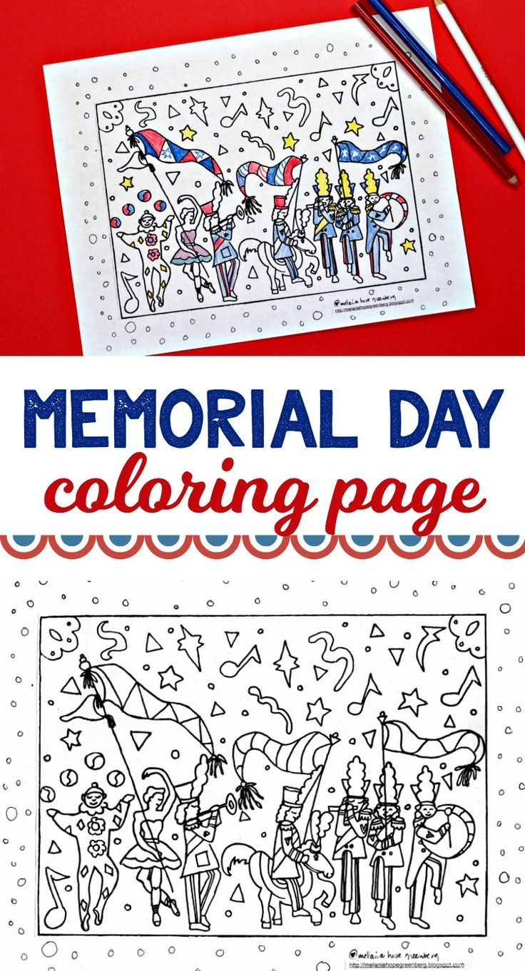 Cute Memorial Day Coloring Page A Parade And Celebration Memorial Day Coloring Pages Memorial Day Activities Memorial Day [ 1362 x 736 Pixel ]