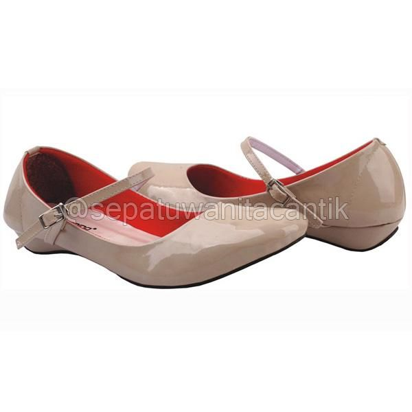 Model Sepatu Flat Shoes Wanita Cantik/SEpatu Kerja Wanita Giardino Tan Terbaru Murah Branded GRNS183
