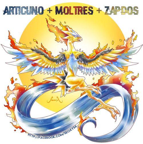 Articuno + Zapdos + MoltresBy Seoxys Art