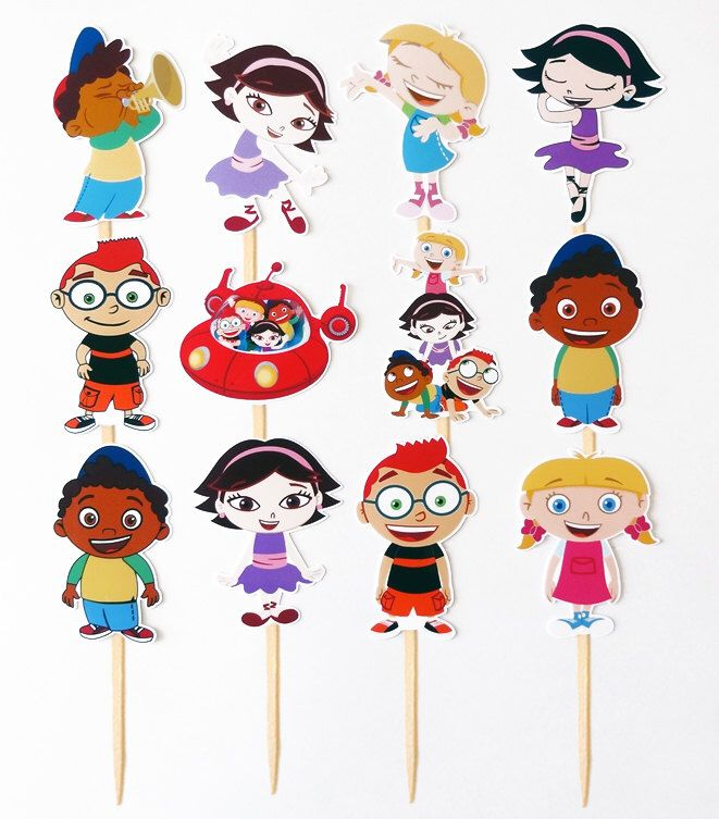 12 Little Einsteins Birthday Party Cupcake Cake Toppers by PangeaUniverse on Etsy https://www.etsy.com/listing/216157211/12-little-einsteins-birthday-party