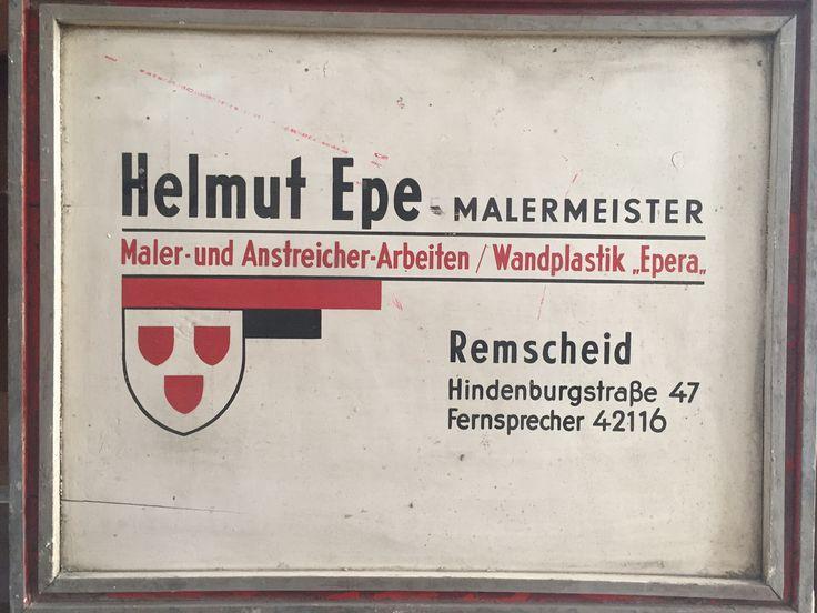 Baustellenschild ca. 1950 - EPE MALER