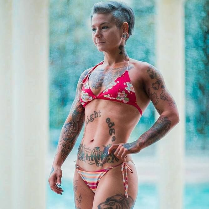 Love her whole style. Sara Russert - Vegan straight edge female bodybuilder