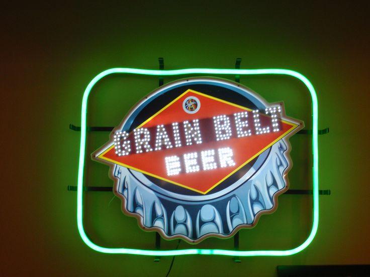 grain belt neon beer sign