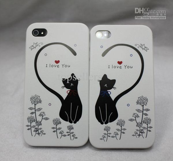 cover iphone con i gatti innamorati