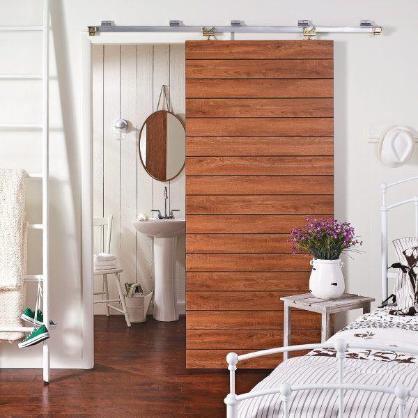 Dress Up A Door With Flooring Planks