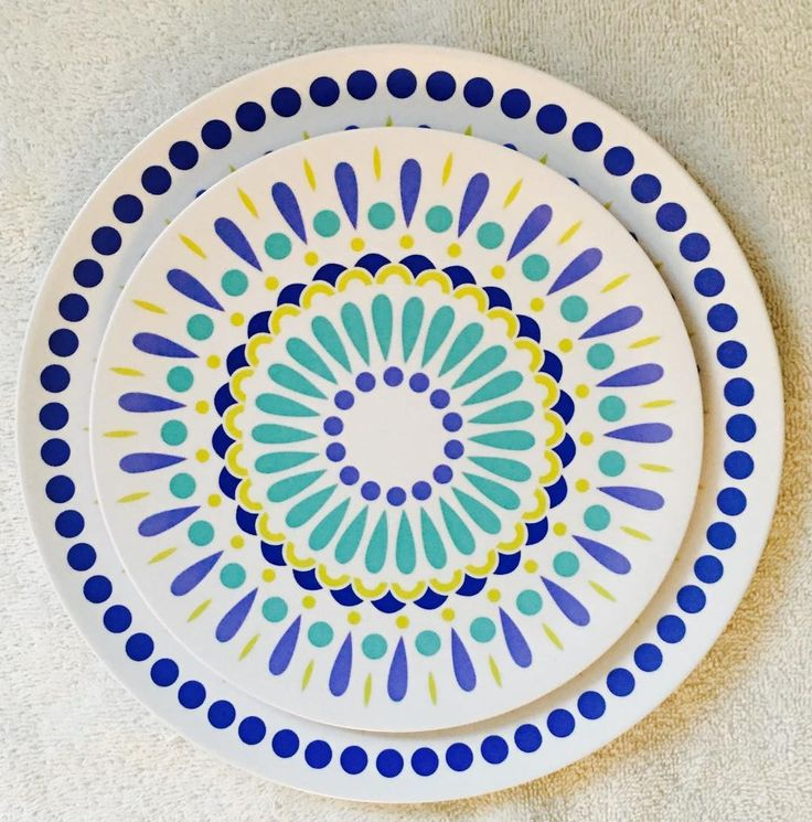 Byzantine (Blue Combo) dinner and side plate by plateshoppe.com. Dishwasher safe but not for microwave use. Handmade in the USA.#funtimes #dinnerware #serveware #supportsmallbusinesses #smallbusinesses #homedecor #sideplates #melamineplates #melamine #tabledecorations #partyplates #home #eatingoutdoors #homedecor #poolparty#summer#summerparty#bbq #dinnerwaregifts #gifts #partysupplies #partydecorations#partyplanning#eatingoutdoors #picnics#outdooreating#entertainingathome…