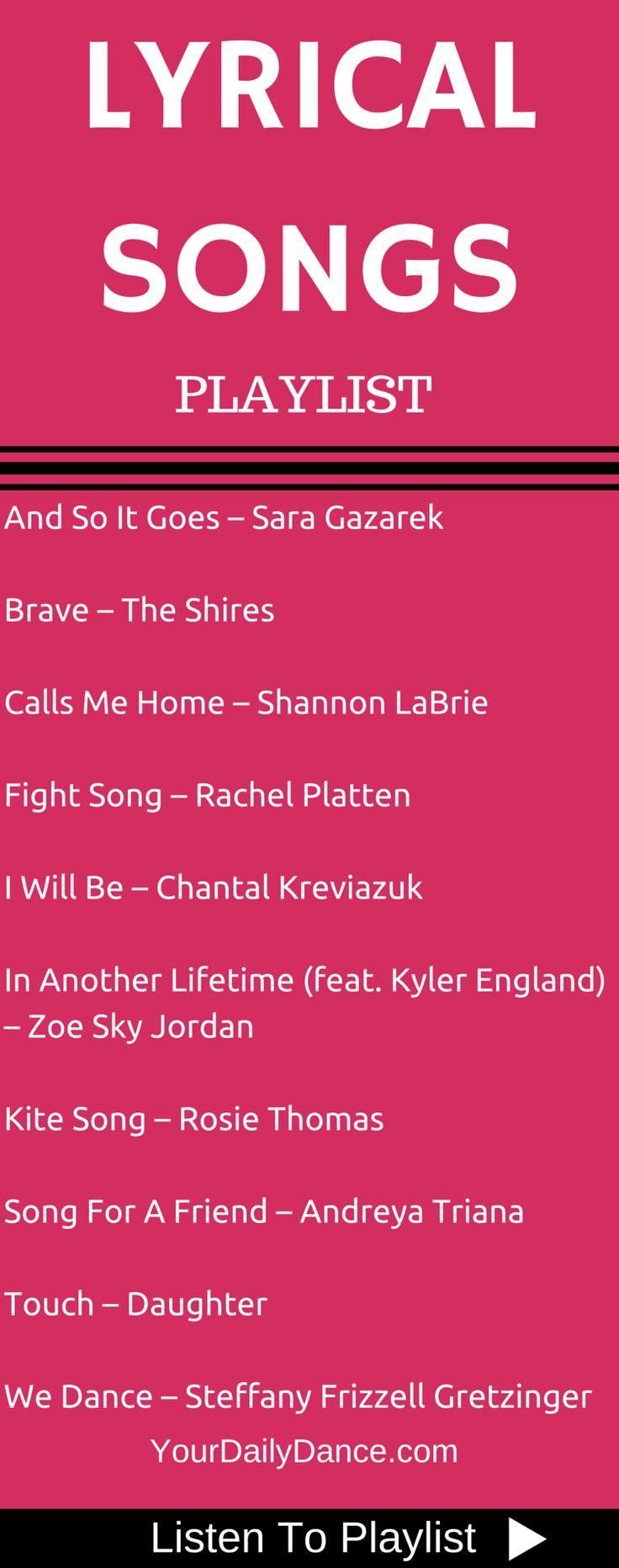 Lyrical Songs - Playlist 34