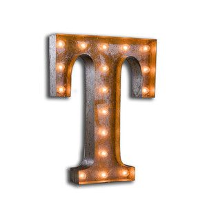 Letter T Vintage Marquee Light, £167, now featured on Fab.
